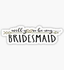 Bridesmaid Propsal Sticker