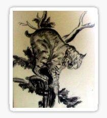 Bob Cat In A Tree Sticker