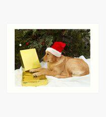 Puppy's Wish List Art Print