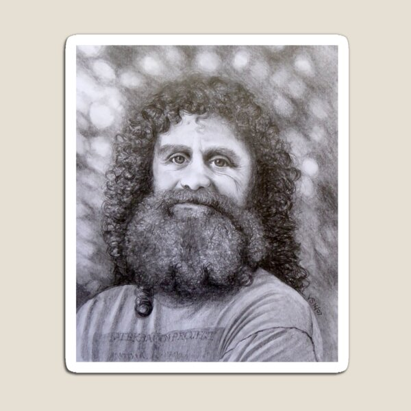 Robert Sapolsky Portrait Pencil Drawing Magnet