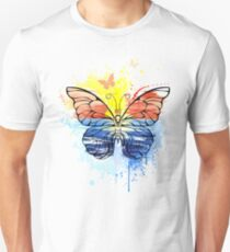 Butterfly with Painted Sea Unisex T-Shirt