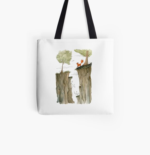 Divided All Over Print Tote Bag