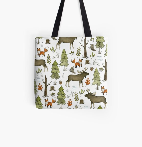 Forest Walks All Over Print Tote Bag