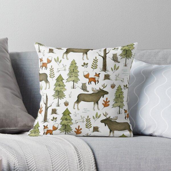 Forest Walks Throw Pillow
