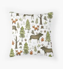 Forest Walks Throw Pillow