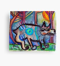 Hippie Dog Canvas Print