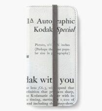 1920s Kodak Autographic iPhone Wallet/Case/Skin
