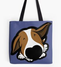 Big Nose Bull Terrier Puppy Tote Bag