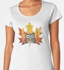Polygon Owl Leaf Women's Premium T-Shirt