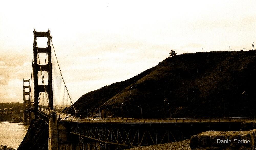 Golden Gate Bridge in 1972 by Daniel Sorine