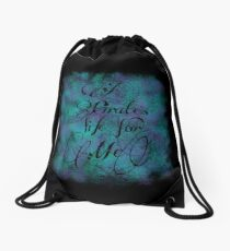 "Killian Jones/Captain Hook - ""A pirate's life for me"" Drawstring Bag"