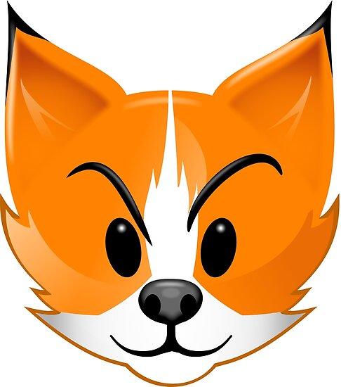 Cute cartoon fox face - photo#33
