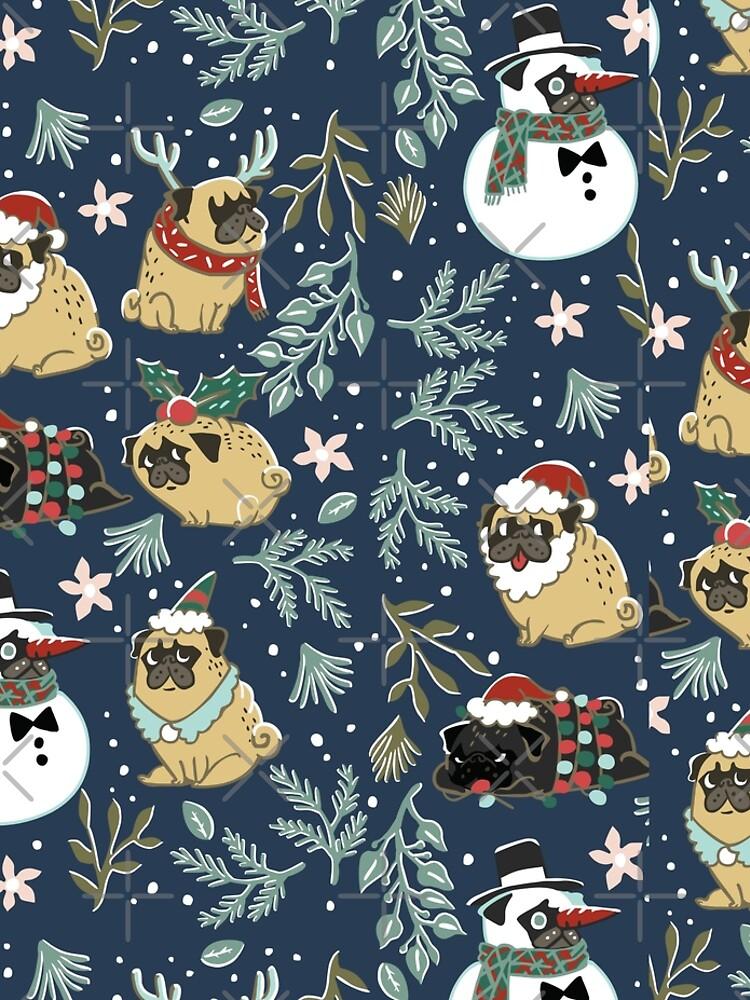 Weihnachtspugs von Huebucket