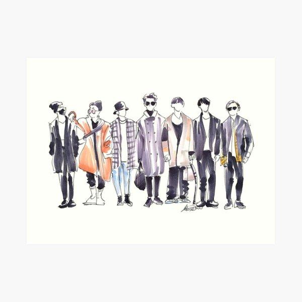 BTS Airport Fashion 171113 Art Print