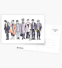 BTS Airport Fashion 171113 Postcards