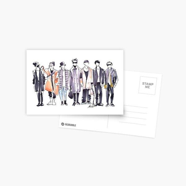 BTS Airport Fashion 171113 Postcard