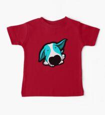 Big Nose Bull Terrier Puppy Aqua Baby Tee