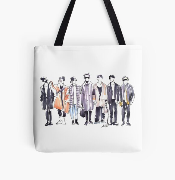 BTS Airport Fashion 171113 All Over Print Tote Bag