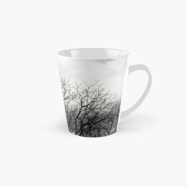 Black and White Trees and Sky Tall Mug