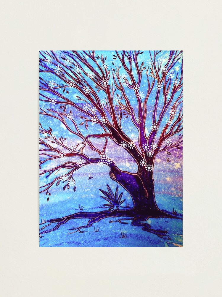 Alternate view of Snowflake Tree Photographic Print