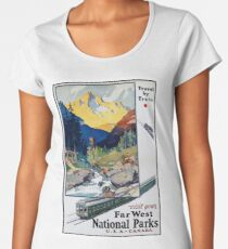 Vintage National Park Travel Poster Women's Premium T-Shirt