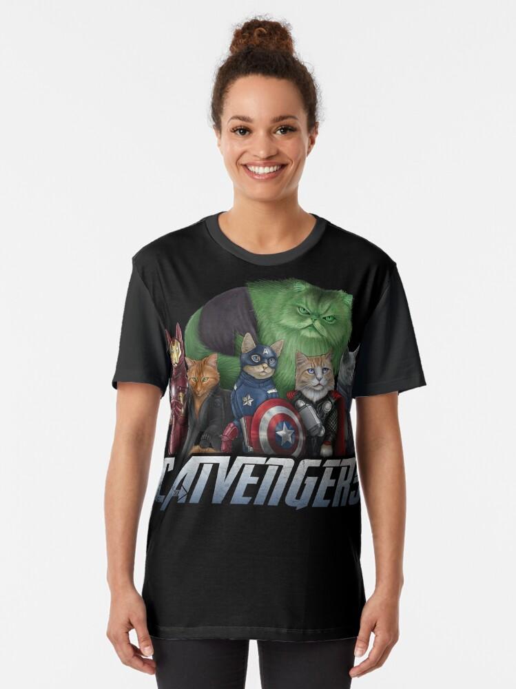 Alternate view of The Catvengers Graphic T-Shirt