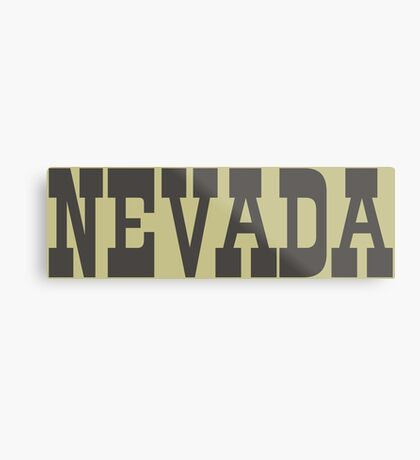 States Of Nevada Western Style  Metal Print