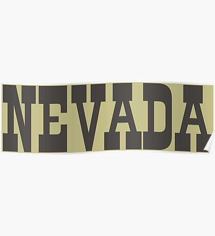 States Of Nevada Western Style  Poster