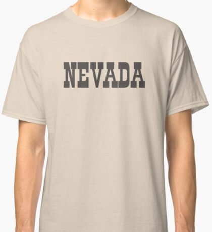States Of Nevada Western Style  Classic T-Shirt