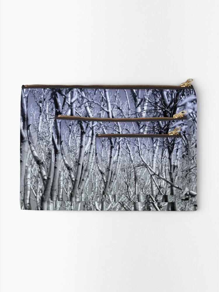 Alternative Ansicht von Hoher Kontrast Wald Foto Täschchen