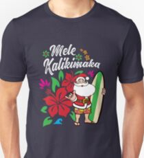 'Mele Kalikimaka' Cute Christmas Hawaiian  Unisex T-Shirt
