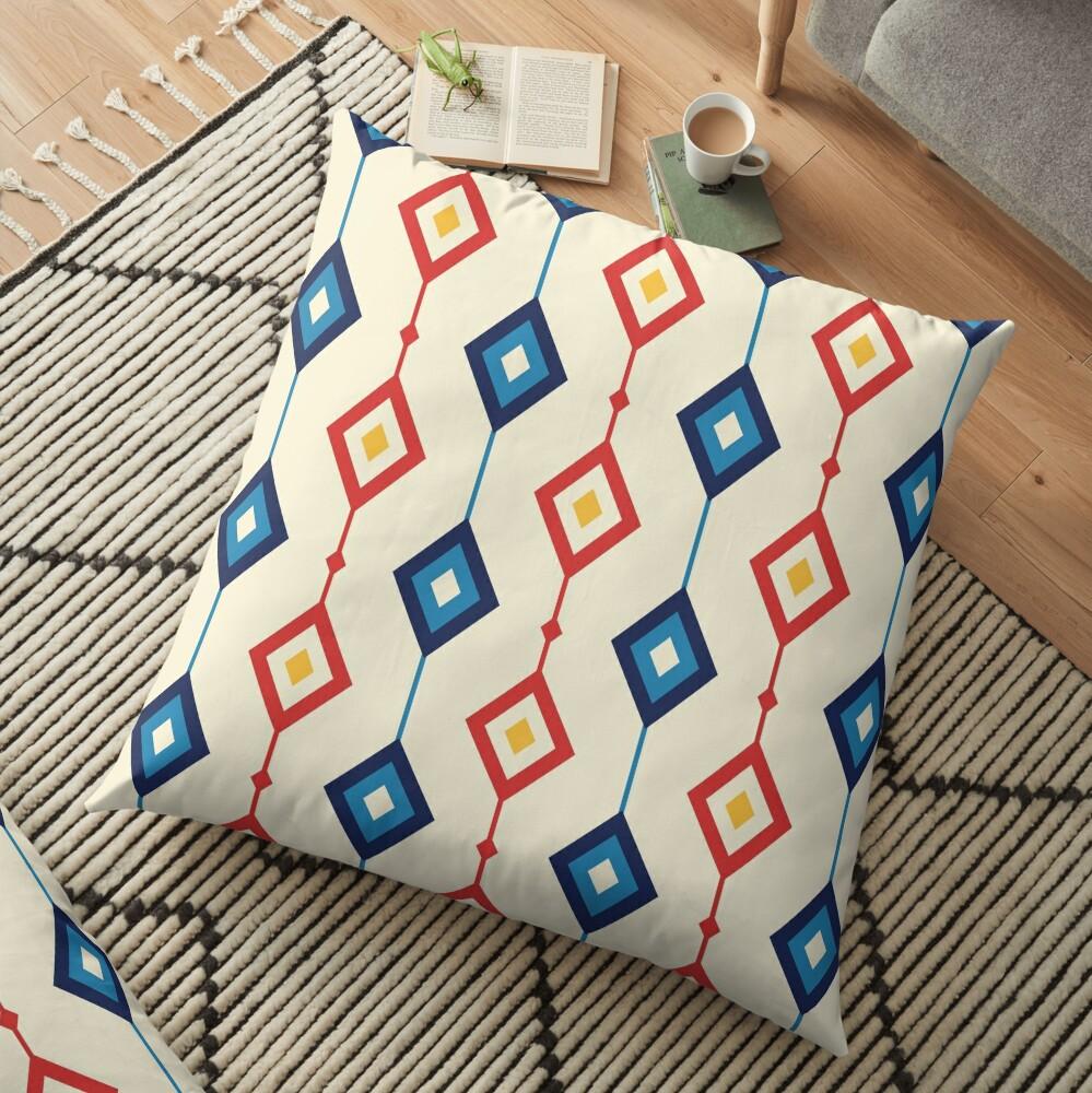 Geometric Shapes 01 Floor Pillow