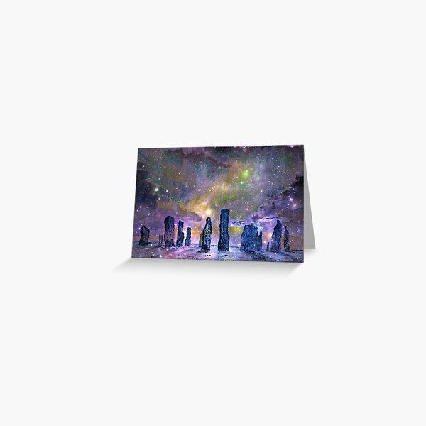 Callanish stones winter solstice Greeting Card