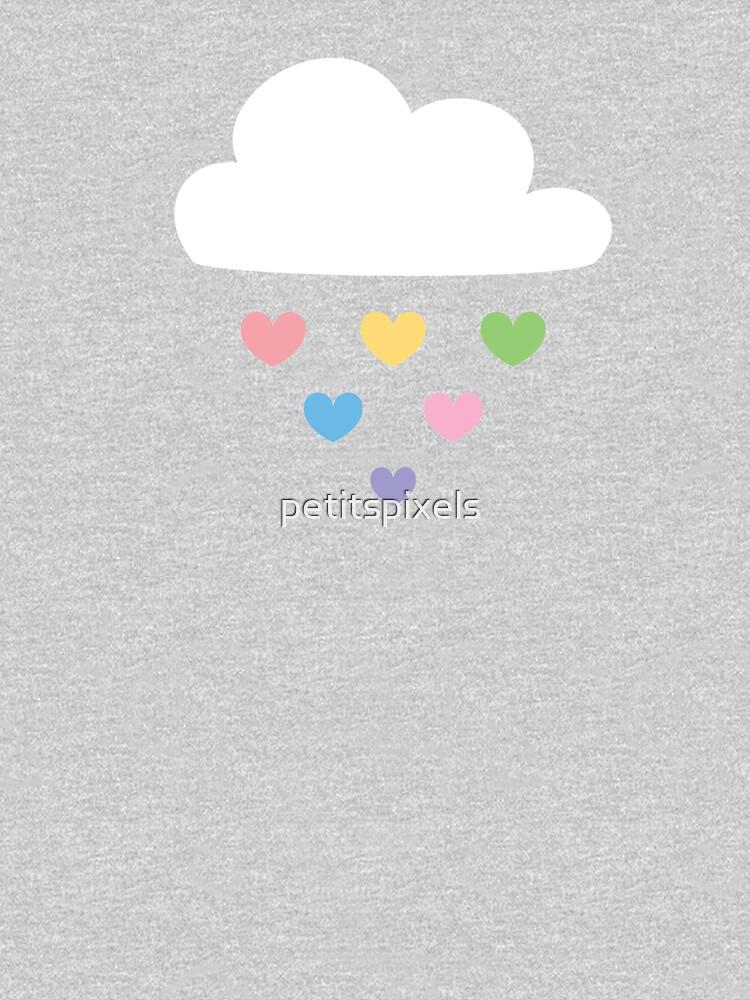 Raining hearts by petitspixels