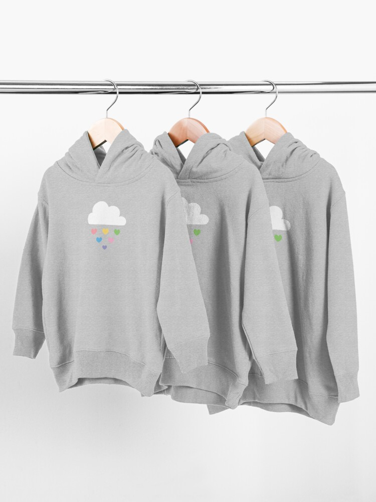 Alternate view of Raining hearts Toddler Pullover Hoodie