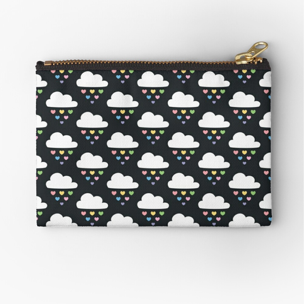 Raining hearts Zipper Pouch