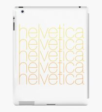 Helvetica Gradient iPad Case/Skin