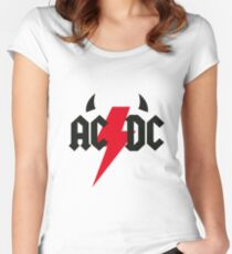 ACDC Logo Women's Fitted Scoop T-Shirt
