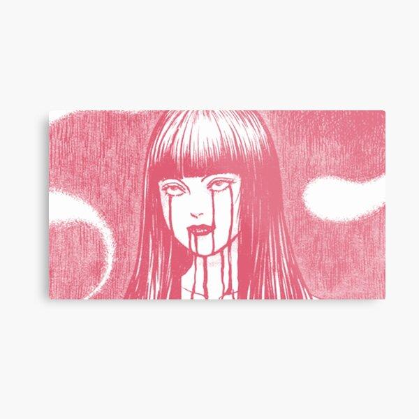 Bloody Girl (Pink) Metal Print