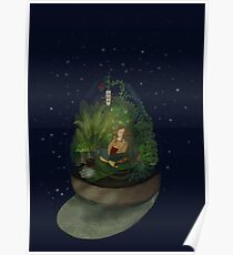 Cosy green Place for snowy Days Poster