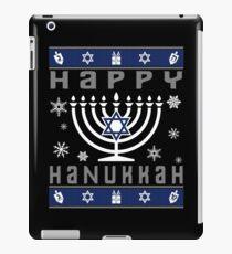 Happy Hanukkah Ugly Christmas iPad Case/Skin