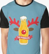 Reinbeer Christmas Pun Costume Wordplay Gift Graphic T-Shirt