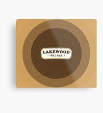 Lakewood | Retro Badge Metal Print