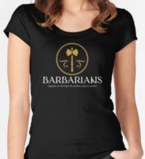 Barbarian Barbarians Dungeons and Dragons Inspired - D&D Women's Fitted Scoop T-Shirt