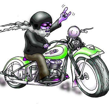 HARLEY STYLE BIKER MOTORCYCLE by squigglemonkey