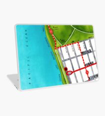 San Francisco map - Outer Sunset Laptop Skin