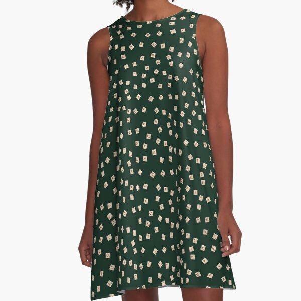 Scrabble A-Line Dress