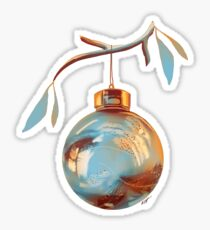 Golden Christmas Sticker