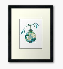 Tropical Christmas Framed Print