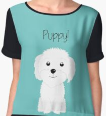 It is a puppy - National Puppy Day Women's Chiffon Top